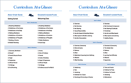 Sitting Together: Curriculum at a Glance